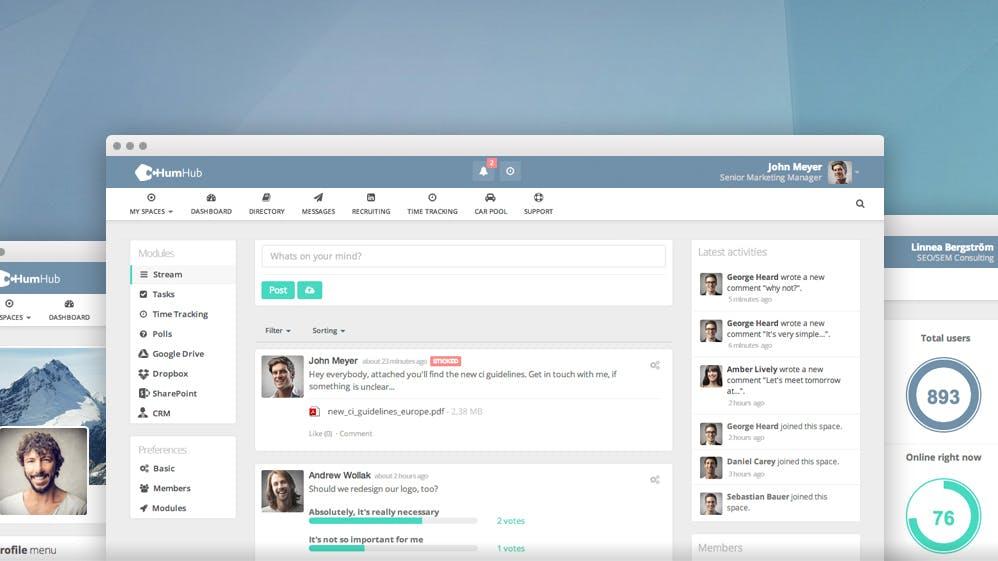 """Das eigene Social Intranet hosten: Open-Source-Projekt """"HumHub"""" bekommt viele neue Funktionen"""