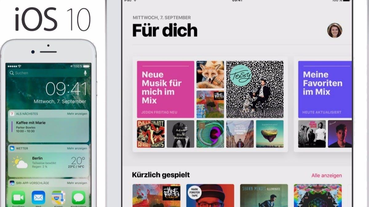 Apple veröffentlicht finale Version von iOS 10