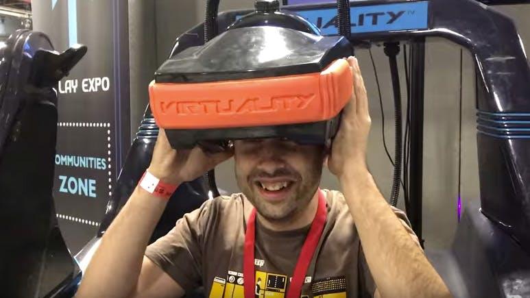 So sah Virtual Reality anno 1992 aus – auf einem Amiga 3000