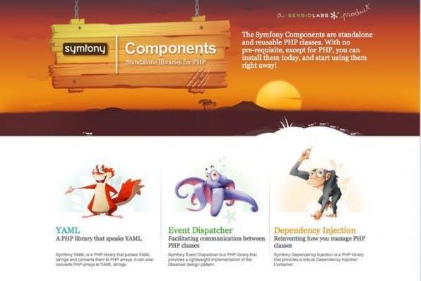 Symfony ist modular aufgebaut, einzelne Komponenten lassen sich auch eigenständig verwenden.