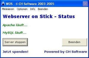 WOS – Webserver on stick: TYPO3 immer dabei