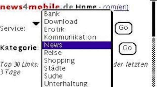 Hohe Informationsdichte für kleine Displays: Mobiles Internet: eine Herausforderung