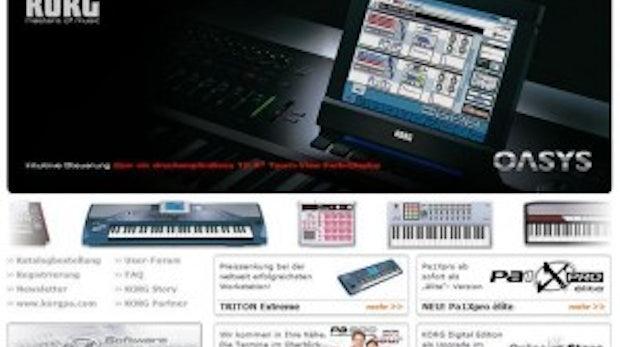 Die Keyboard-Marke Korg präsentiert sich in neuem Gewand: TYPO3 und die Masters of Music