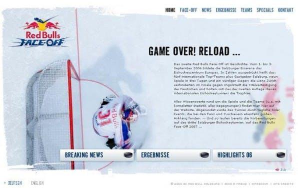 Eine sehr aktive Flashwebsite wird beim EC Red Bull Salzburg vollständig per TYPO3 verwaltet.
