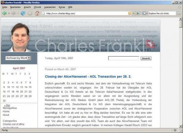 In seinem Weblog kommentiert der Geschäftsführer von AOL Deutschland aktuelle Wirtschaftsereignisse.