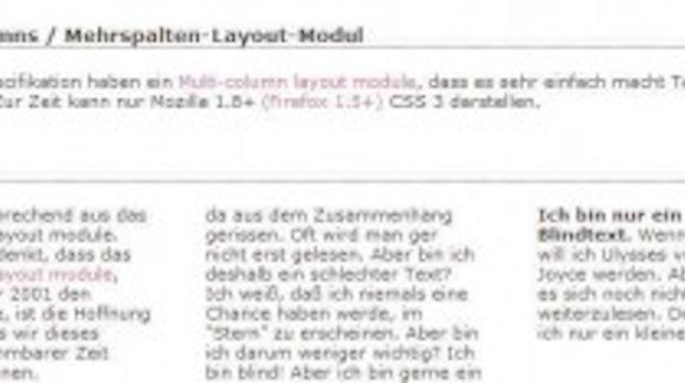 Ein Ausblick auf CSS3: Layout hoch drei