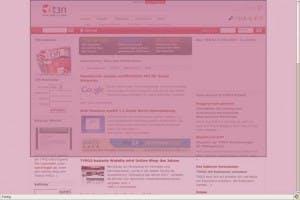 Mit der rosa Maske ist der Ausschnitt des Bildschirmfotos frei wählbar.