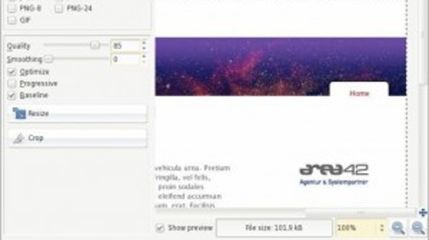 Professioneller Einsatz bei der Gestaltung von Portalen und Intranet 2.0: Portaldesign mit GIMP 2.4