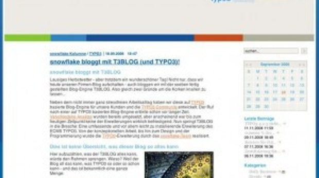 Neue Blog-Extension für TYPO3: T3BLOG