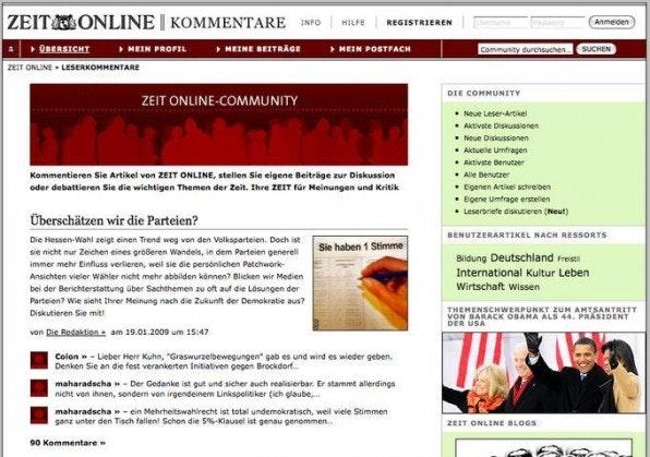 """Die Zeit-Online-Community basiert seit Anfang 2007 auf Drupal, ebenso wie das Projekt """"Netz gegen Nazis""""."""