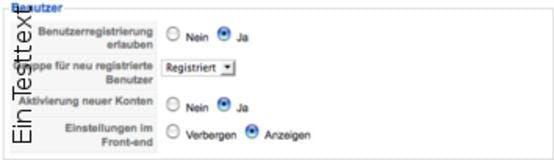 Ist in der Konfiguration die Benutzerregistrierung erlaubt , so können sich Benutzer  im Frontend für geschützte Bereiche anmelden.
