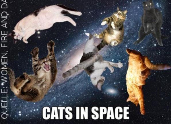 Beispiel einer kritischen Auseinandersetzung mit dem Thema Raumfahrt.