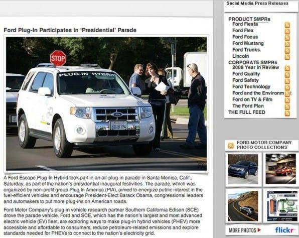 Ford wirkt schlechter PR über die Umweltschädlichkeit von Kraftfahrzeugen in seinem Social Media Newsroom entgegen.
