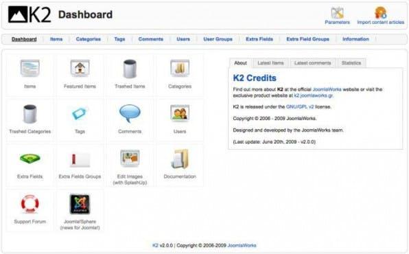 """""""K2"""" bietet Administratoren ein umfangreiches Dashboard."""
