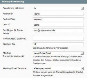 Das Afterbuy-Modul übermittelt nach Abschluss einer Bestellung die relevanten Daten in Echtzeit an das Bestellabwicklungssystem.