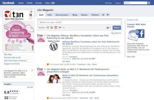Das Blogsystem an Facebook, Twitter und andere anbinden