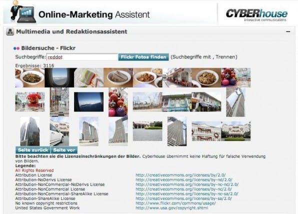 Der Online-Marketing Assistent eröffnet Redakteuren die Möglichkeit, direkt im CMS Aufgaben des Online-Marketings zu erledigen.