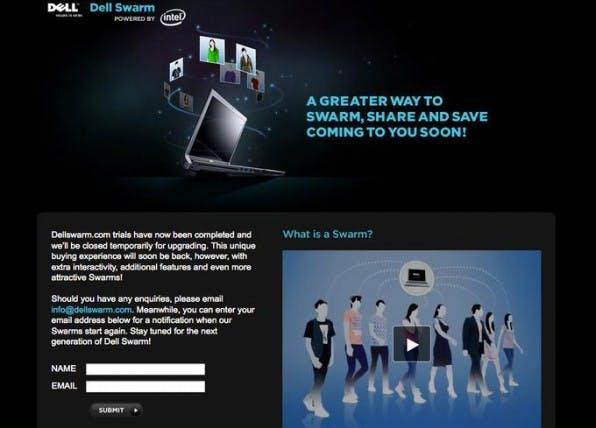 Dell Swarm ist bisher eines<br />  der wenigen Beispiele für eine direkte Umsatzgenerierung über Social<br /> Media.