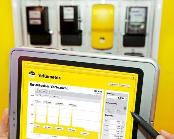 Dank eines mit dem Internet verbundenen Stromzählers können<br /> Kunden von Yello Strom ihren Stromverbrauch live auf dem PC ablesen.