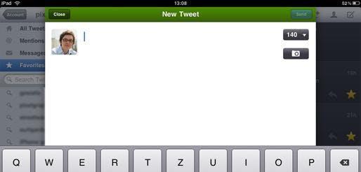 Im Gegensatz zu Tweetdeck kommt Twitterific sehr übersichtlich daher. Der Nutzer wird wenig von selten benötigten Funktionen abgelenkt,  hat aber auch weniger Features zur Verfügung.