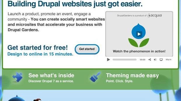 Drupal-Einstieg leicht gemacht: Mit Drupal Gardens im Handumdrehen zur gehosteten Website