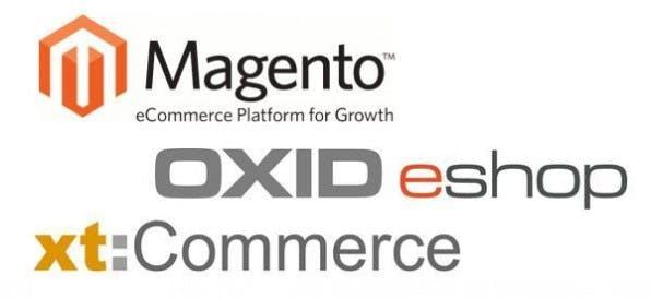 Für die drei wichtigsten Open-Source-Shopsysteme Magento, Oxid eShop und xt:Commerce bieten zahlreiche Anbieter spezielle Hosting-Pakete an.