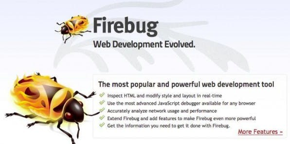 Neben Extensions für TYPO3 können Seitenbetreiber auch kostenlose Tools wie Firebug zur Optimierung der Performance nutzen.