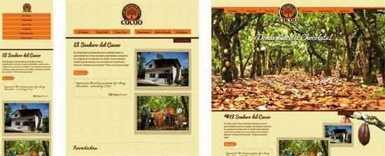"""Die Seite """"El Sendero del Cacao"""" passt sich der Browserbreite an."""