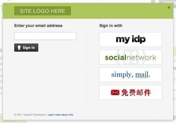 Der Account Chooser bietet ein klares Interface auch für unerfahrene Nutzer.