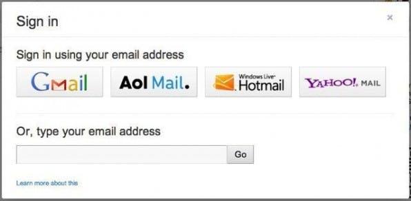Die Benutzeroberfläche des Identity-Toolkits orientiert sich an den Vorgaben des Account-Choosers.