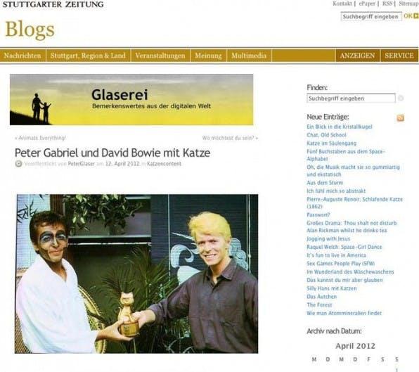 Am liebsten publiziert Peter Glaser auf seinem Blog Katzen-Content.