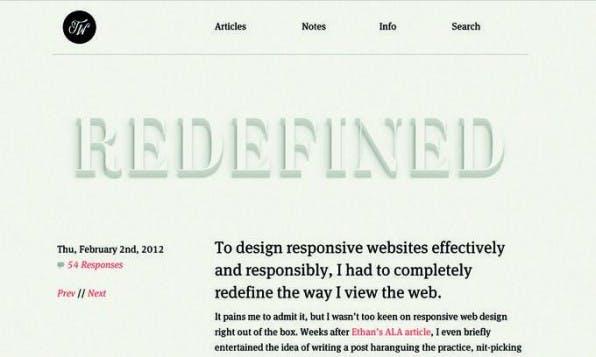 Der Designer Tim Walton experimentiert in seinem Blog mit Typografie.