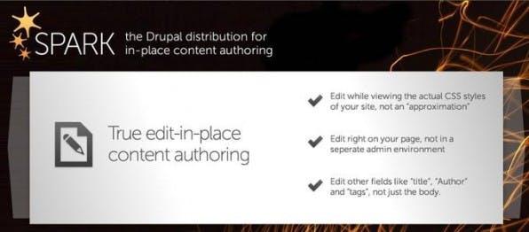 Die Distribution Spark soll die Autorenprozesse in Drupal deutlich verbessern und Tests direkt auf echten Sites ermöglichen.
