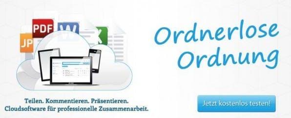 Der deutsche Anbieter CenterDevice setzt auf eine ordnerlose Struktur und kann gängige Dateiformate im Web darstellen.
