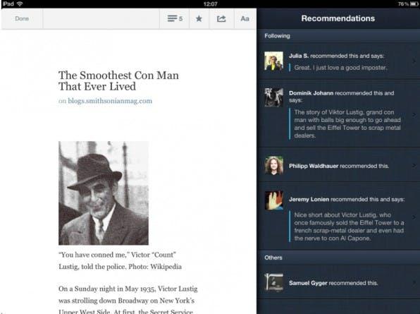 Quote.fm, eine Plattform zum Empfehlen von Geschichten, ist das erste Startup, das im Umfeld der Agentur elbdudler entstanden ist.