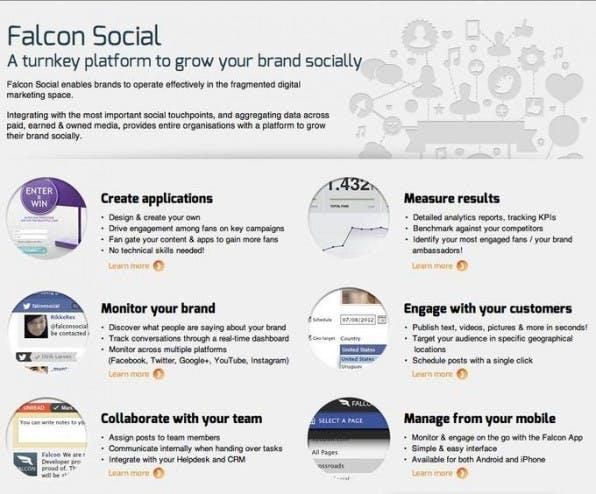 Falcon Social punktet vor allem bei der Verknüpfung der Unternehmenskanäle und der Social-Media-Mitarbeiter. Kundenanfragen können über das Dashobaord an einzelne Mitarbeiter weitergeleitet und mit Anmerkungen versehen werden.
