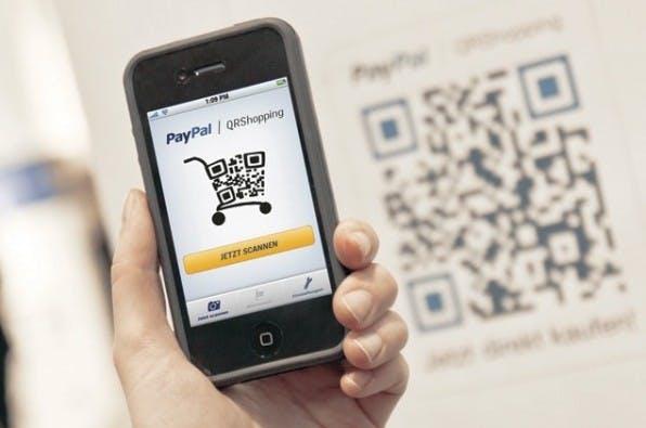 Paypal will mit seiner QR-Code-Lösung das Geschäftsfeld erweitern und sich im stationären Handel etablieren.