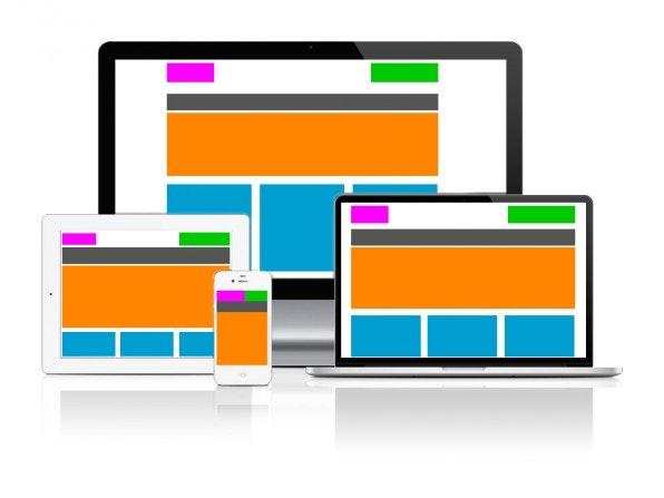 Responsive Layouts passen sich automatisch jeder Bildschirmgröße an.