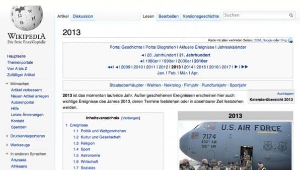 Themenfindung mit Wikipedia: Die Online-Enzyklopädie informiert zum Beispiel über relevante Gedenktage.