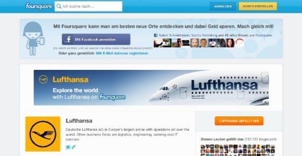 Europas größte Fluglinie postet bei Foursquare regelmäßig Fotos und Tipps. Das gefällt immerhin mehr als 137.000 Leuten.