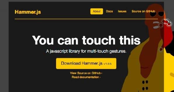Mit Hammer.js lassen sich Multi-Touch-Gesten in Web-Applikationen einbauen. jQuery ist für den Einsatz von Hammer.js nicht nötig.