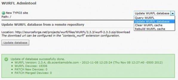 Die Erweiterung contexts_wurfl bietet zusätzlich zu den Funktionen der länger nicht gepflegten wurfl2 einen WURFL-Kontexttypen, um die Darstellung von Inhalten auf unterschiedlichen Geräten zu steuern.