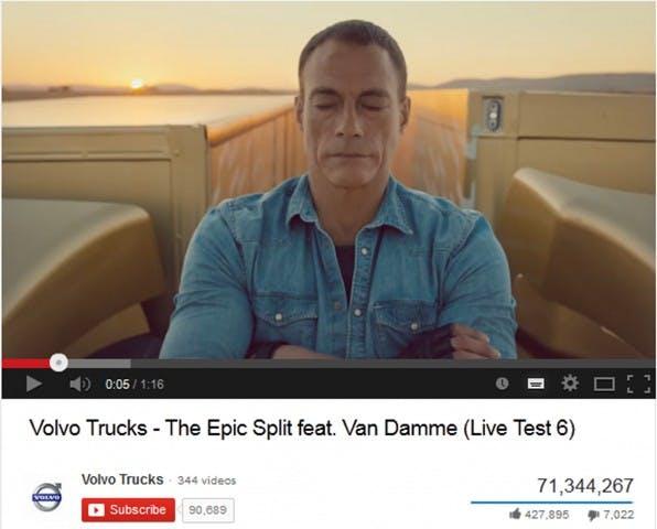 Das YouTube-Klickwunder von Volvo zeigt: Auch Lastwagen-Werbung kann unterhaltsam sein und Massen erreichen.