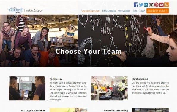 Recruiting-Vorreiter: Der US-Onlinehändler Zappos bietet potenziellen Jobkandidaten die Möglichkeit, in einem eigenen sozialen Netzwerk tätig zu werden und so das Unternehmen besser kennenzulernen.