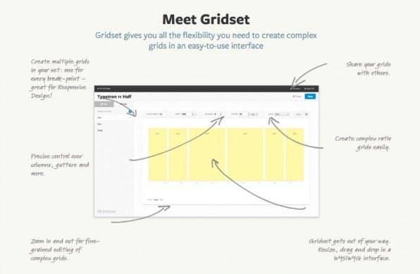 Mit Gridset lassen sich ohne die Zuhilfenahme großer Frameworks Grids realisieren. Das Online-Tool bietet eine enorme Gestaltungsfreiheit. (Screenshot: gridsetapp.com)