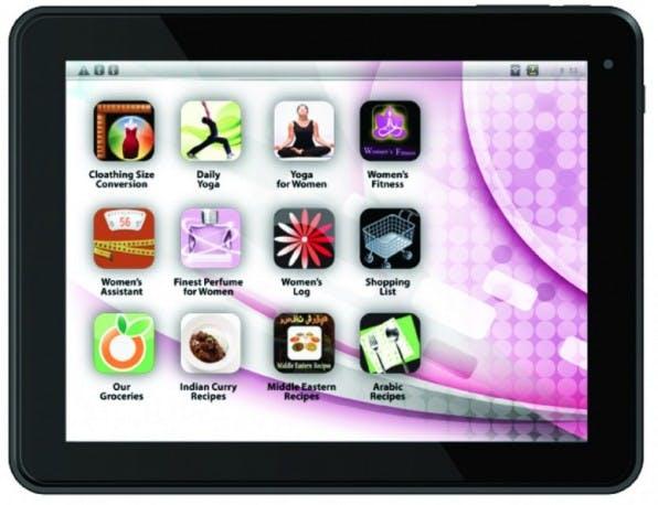 Gut gemeintes Design für die Frau: Das 2013 vorgestellte ePad Femme versuchte, mit vorinstallierten Shopping-, Koch- und Fitness-Apps zu überzeugen.