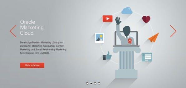 Bei den Highend-Anwendungen für den Enterprise-Bereich zählt Eloqua von Oracle zu den Klassikern der Marketing-Automation-Tools und bietet eine Vielzahl von Funktionen. (Screenshot: eloqua.com)