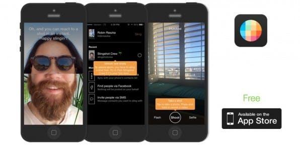 Die Facebook-App Slingshot ist nach dem Vorbild der Foto-Messenger-App Snapchat gebaut, konnte ihren Mega-Erfolg aber nicht erreichen. (Screenshot: sling.me)