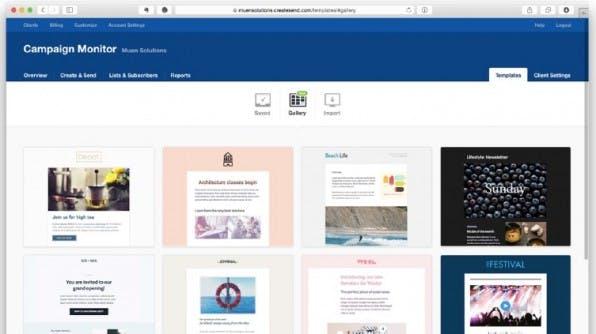 Campaign Monitor ist unter professionellen Designern und Agenturen sehr beliebt. (Screenshot: Campaign Monitor)