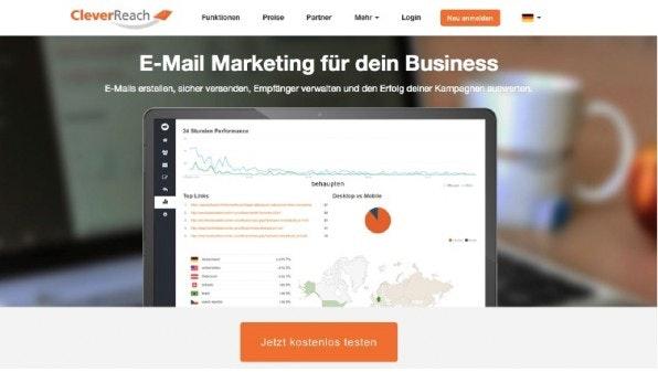 CleverReach ist eine der vielen interessanten MailChimp-Alternativen, die die deutsche Cloud zu bieten hat. (Screenshot: CleverReach)